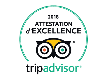 Attestation d'excellence TripAdvisor 2018